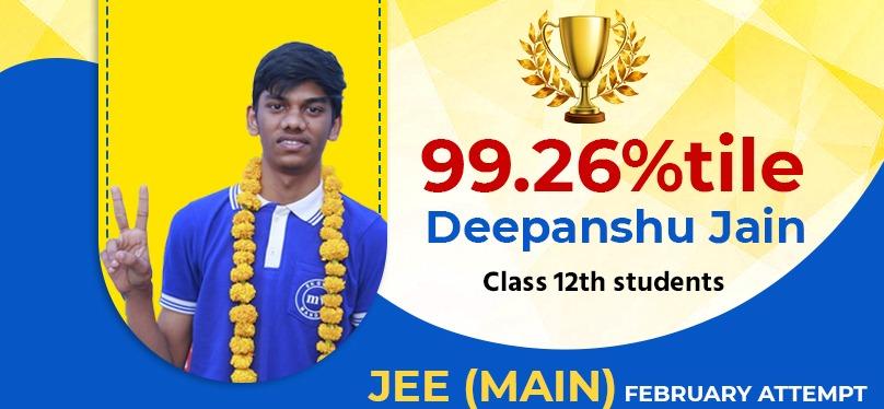 Deepanshu Jain 99.26%tile
