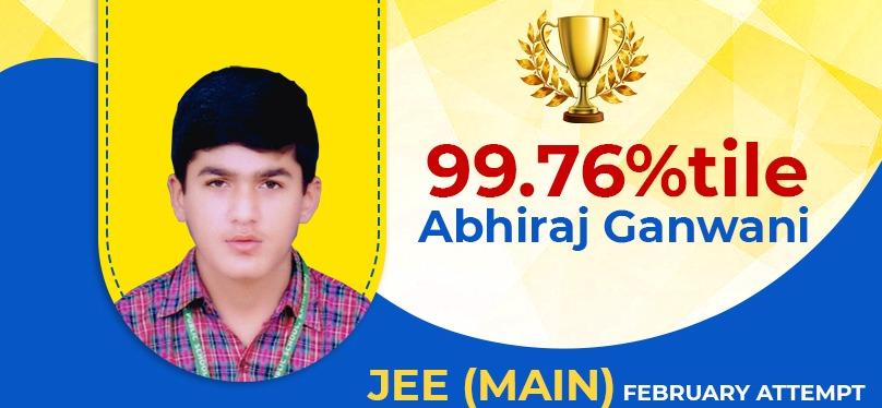 Abhiraj Gunwani 99.76%tile
