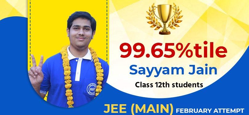 Sayyam Jain 99.65%tile